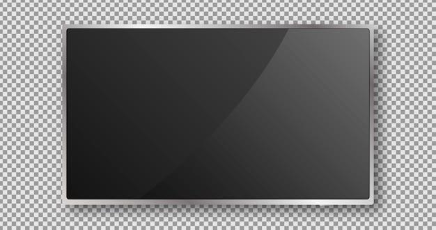 Tela de tv. design de monitor preto. painel lcd