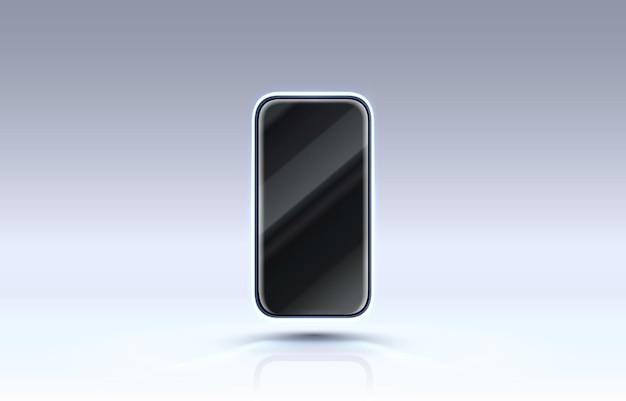 Tela do smartphone do celular, luz de exibição do celular de tecnologia.