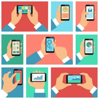Tela do telefone móvel, funções