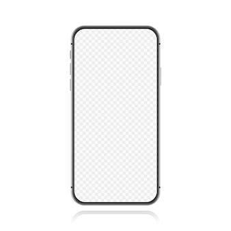 Tela em branco do smartphone, maquete do telefone. modelo de infográficos para interface de design de interface do usuário de apresentação. ilustração