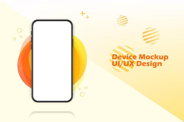 Tela em branco do smartphone, maquete do telefone. modelo de infográficos para interface de design de interface do usuário de apresentação.
