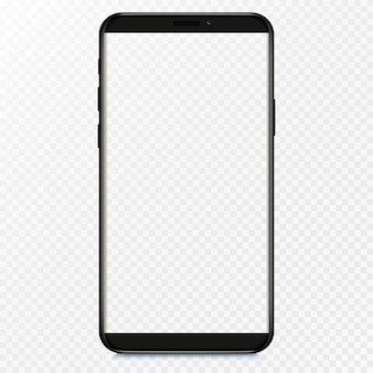 Tela em branco do smartphone, telefone. modelo para infográficos ou interface de design de interface do usuário de apresentação.
