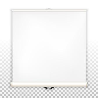 Tela em branco para projetor