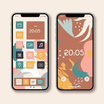 Tela inicial do smartphone