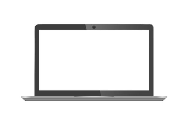Tela preta em branco do laptop