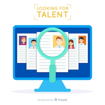 Tela procurando fundo de talentos