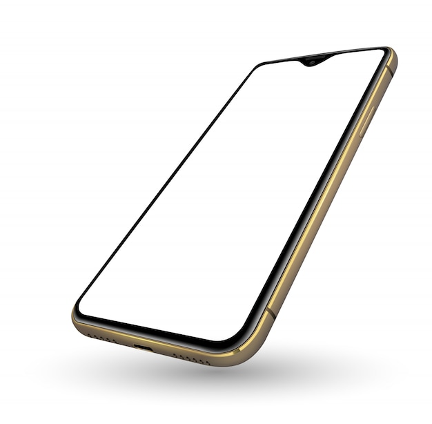 Tela transparente de maquete realista de smartphone