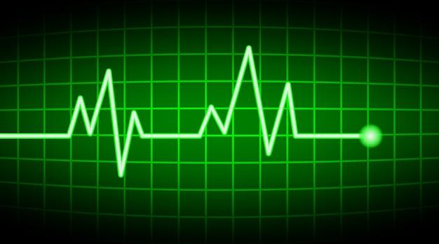 Tela verde da frequência cardíaca