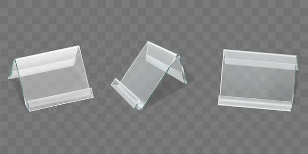 Telas de acrílico para mesa, suportes para cartões de plástico