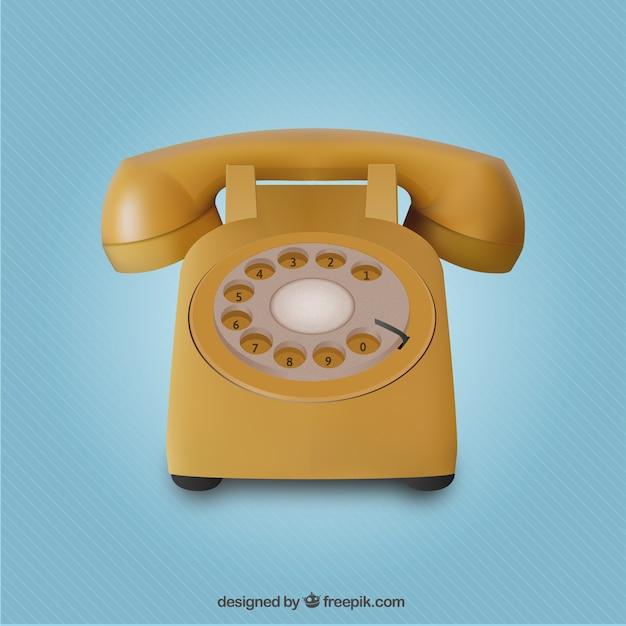 Telefone amarelo realista