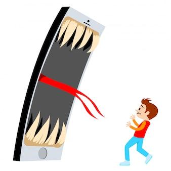 Telefone assustar a criança