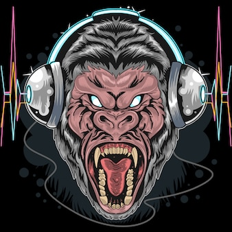 Telefone cabeça gorila