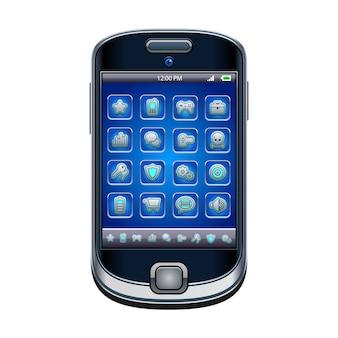 Telefone celular com ícones