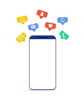 Telefone celular e notificação push
