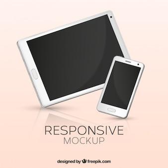 Telefone celular e tablet