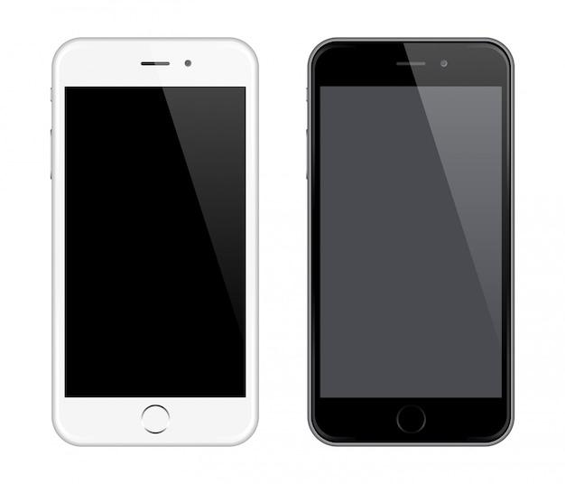 Telefone celular realista com tela em branco