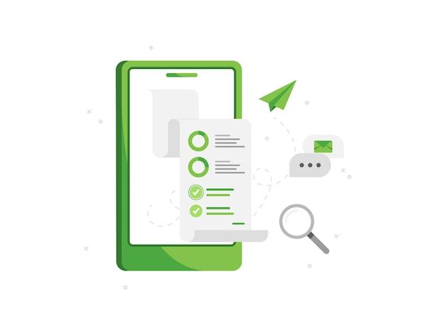 Telefone com análise de negócios e marketing online