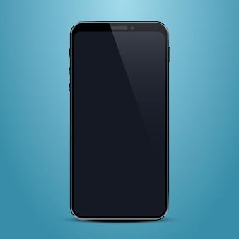 Telefone com tela preta, objetos eletrônicos. ilustração vetorial