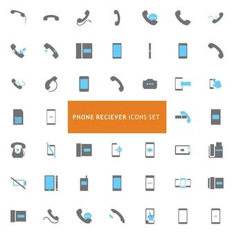 Telefone conjunto de ícones