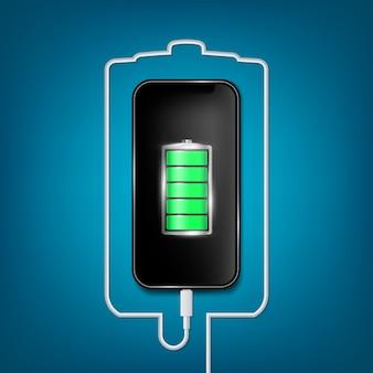Telefone de bateria carregada