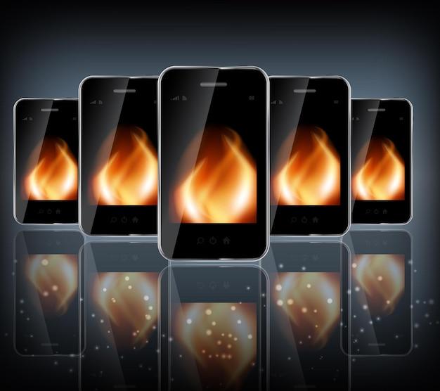 Telefone de design abstrato para design de negócios diferentes. ilustração vetorial