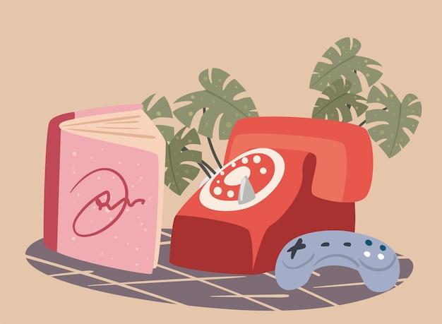 Telefone e livro