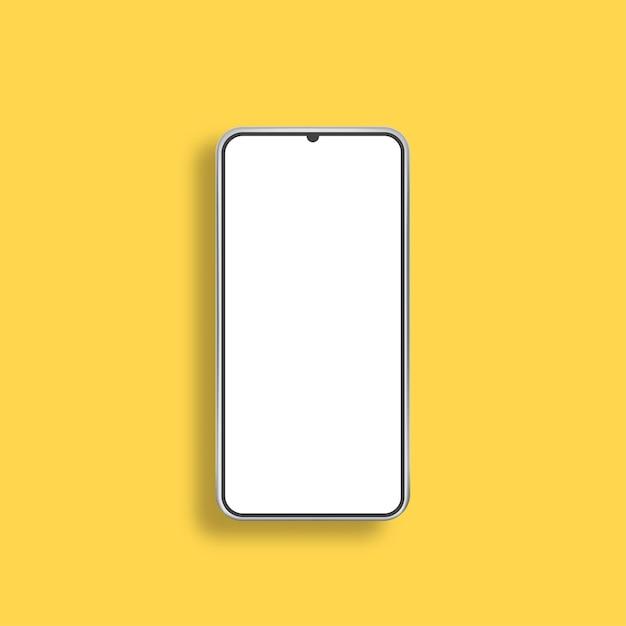 Telefone moderno e realista. tela em branco do smartphone, maquete do telefone. ilustração vetorial.