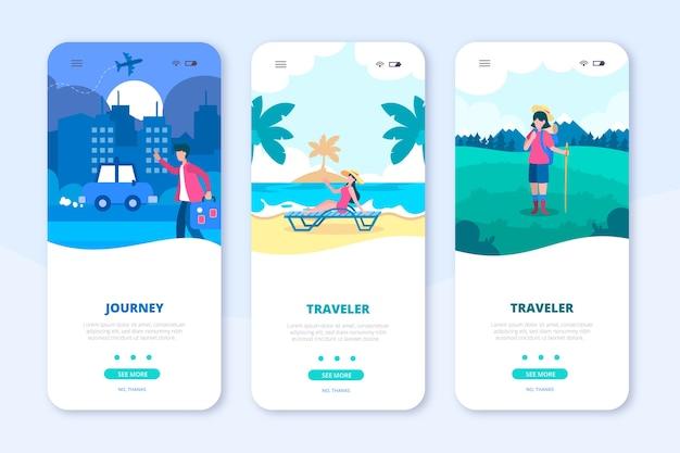 Telefone móvel de aplicativo de viagem