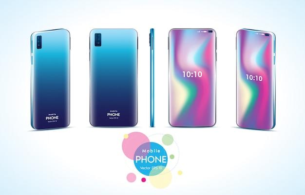 Telefone móvel de diferentes ângulos