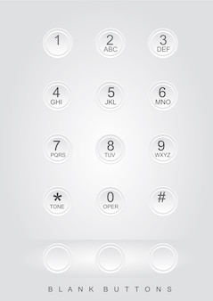 Telefone números fundo cinza
