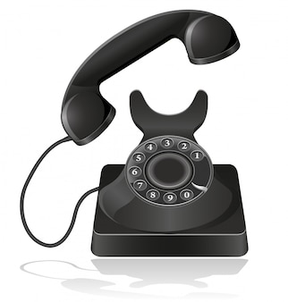 Telefone velho.