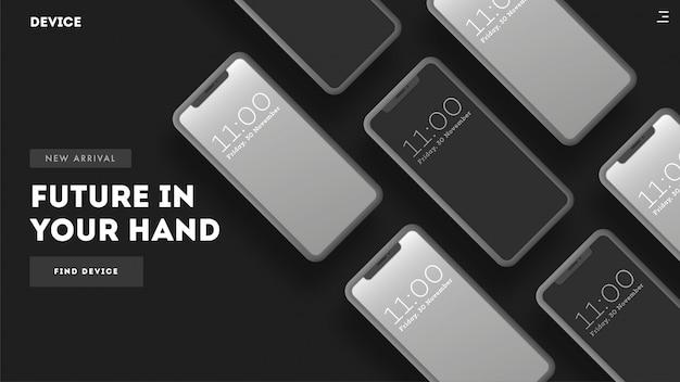 Telefones inteligentes no backgroud