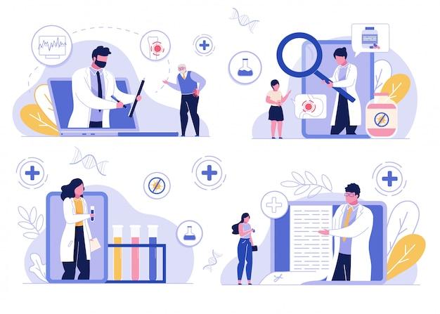 Telemedicina do serviço de consulta médica on-line
