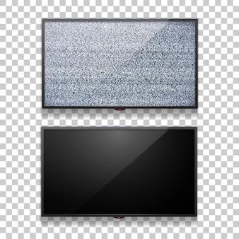 Televisão plana lcd realista