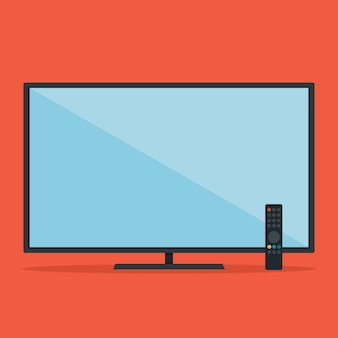 Televisão plana