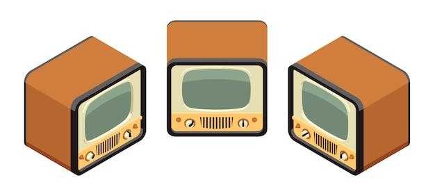 Televisores retro isométricos