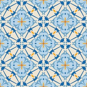 Telha de fundo de padrão de flor de ornamento sem costura para arte criativa.