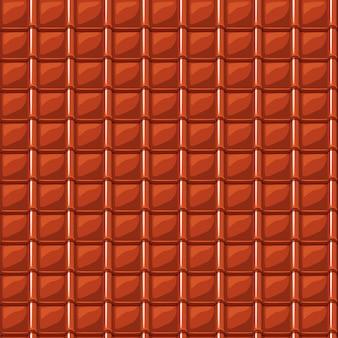 Telha vermelha dos desenhos animados telha textura sem costura
