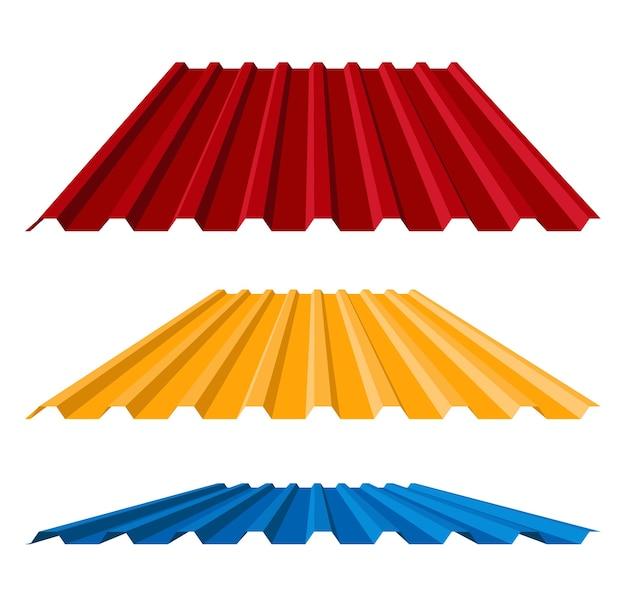 Telhado de metal ondulado em estilo simples.