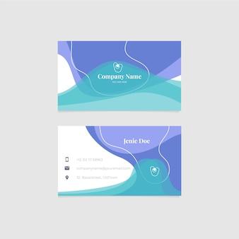 Tema abstrato do modelo de cartão de visita