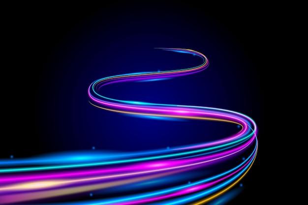 Tema abstrato do papel de parede de luzes de néon