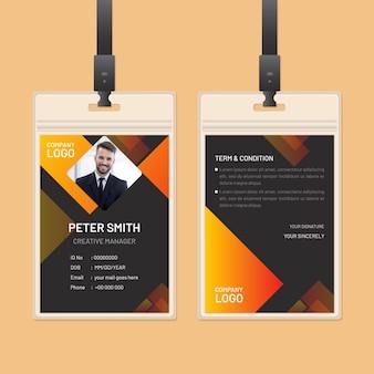 Tema abstrato dos cartões de identificação