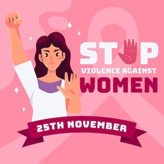 Tema acabar com a violência contra as mulheres