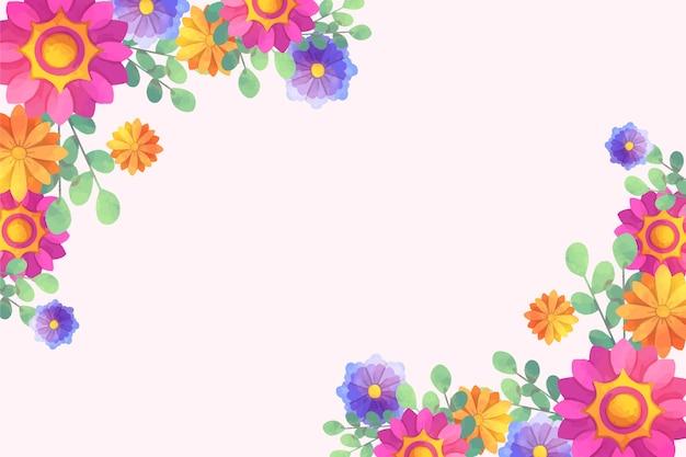 Tema artístico floral fundo aquarela