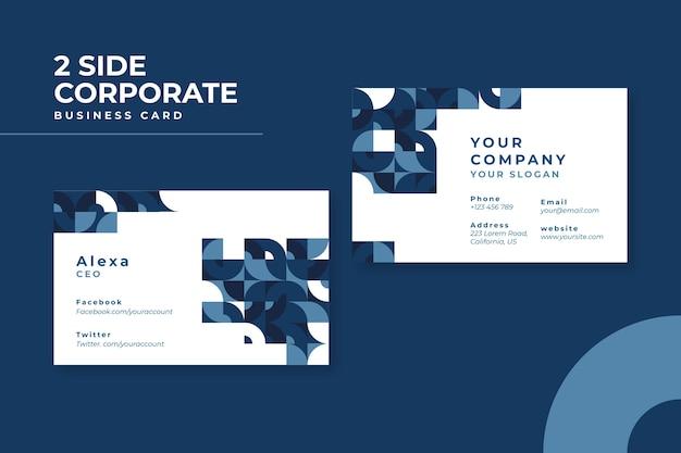 Tema azul abstrato para cartão de visita