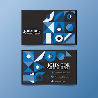 Tema azul clássico abstrato para cartão de visita