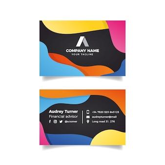 Tema colorido abstrato do modelo de cartão de visita