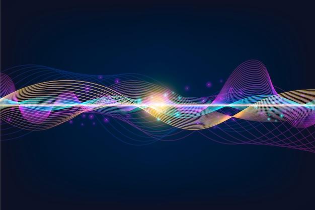 Tema colorido do papel de parede da onda do equalizador
