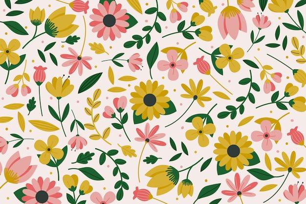 Tema colorido servindo de impressão floral para papel de parede