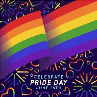 Tema da bandeira do dia do orgulho